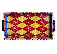 Multi-Color Geometric Design Handmade Painting Tray