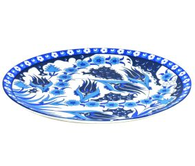 Blue Pottery Decorative Plate