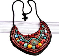 Turquoise Beaded Traditional Necklace Of Ladakh