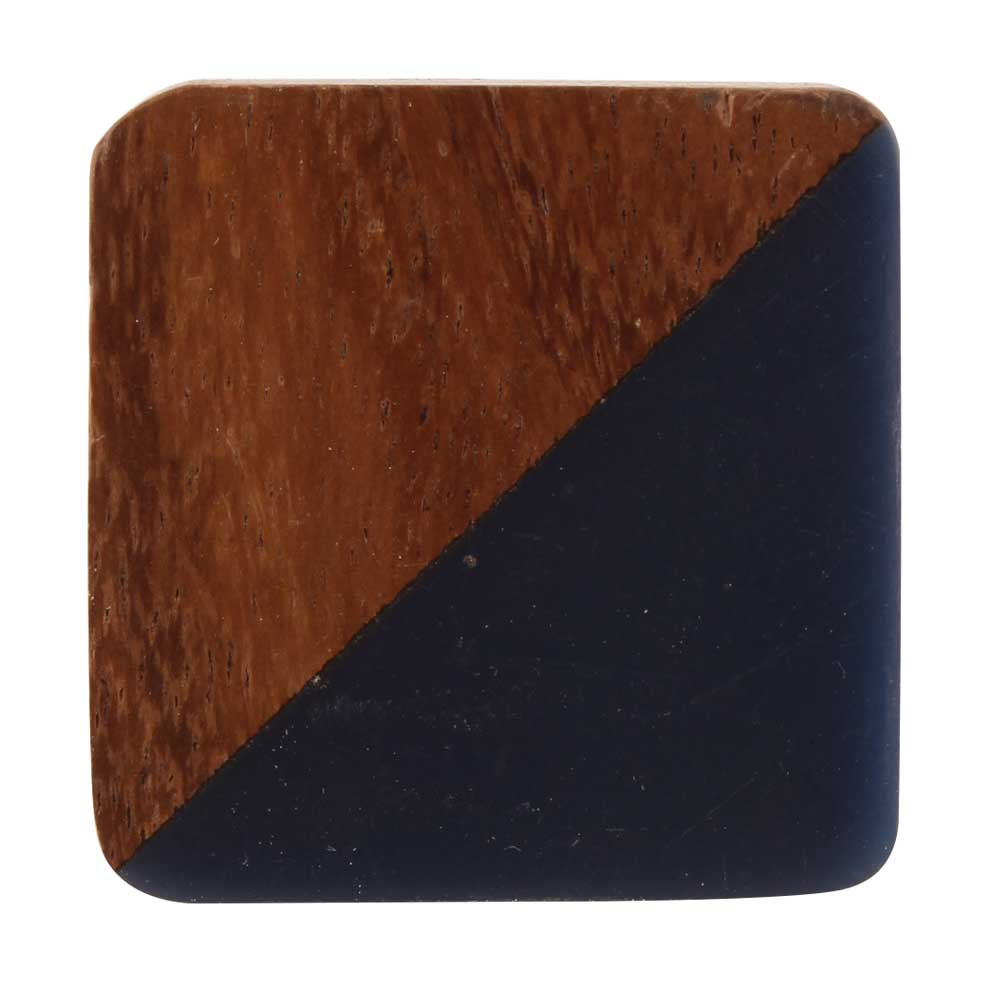 Square Wooden And Resin Cabinet Knob Online