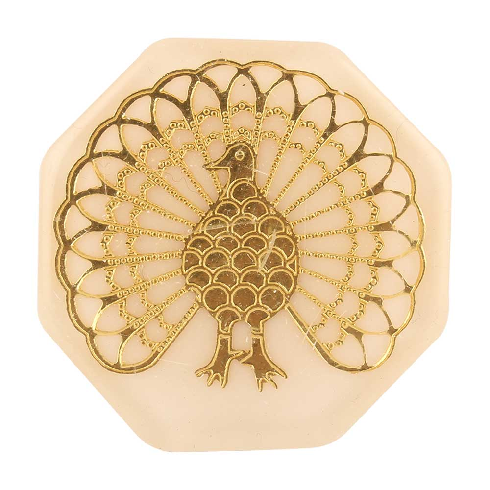 Golden Peacock Octagon Resin Cabinet Knobs Online