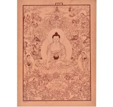 Print Of Amitabha Buddhain his paradise of the Western Pure Land