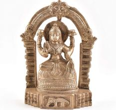 Brass Lakshmi Goddess Statue