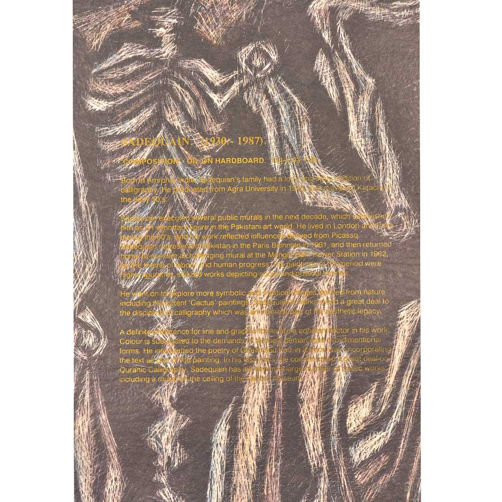 Print Of Sadequain Highly Figurative And Stylized Work