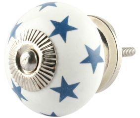 Slate Blue Star Cabinet Knob