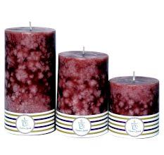 Set Of 3 Chocoholic Mottled Candle