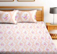 Bombay Dyeing Garnet Bedsheet With Two Pillow Cover