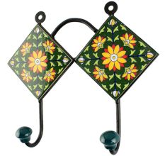 Sunflower Ceramic Tile Hook