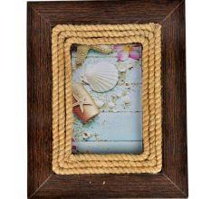 Rope Design Wooden Photo Frame