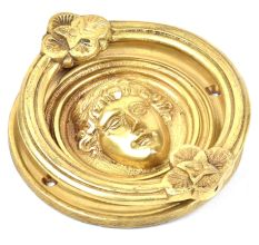 Golden Handmade Roman Design Door Knocker
