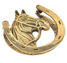 Handmade Brass Horse Shoe Door Knocker