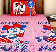 Bombay Dyeing Disney Kids Bedsheet : Minnie Mouse