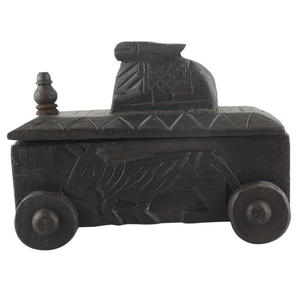 Nandi Wooden Spice Box Indian Handicraft