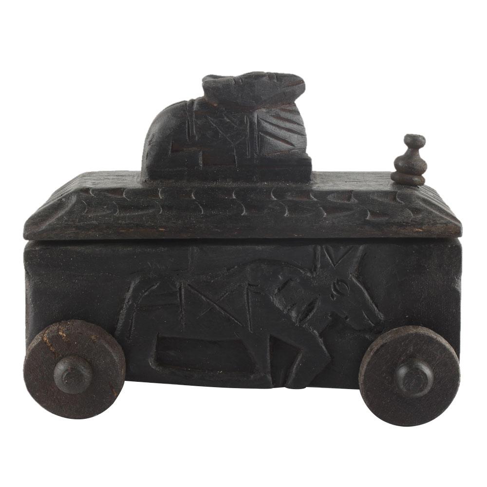 Nandi Wooden Box South Indian Spice Box