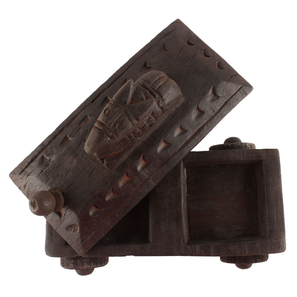 Nandi Wooden Box Masala Dabba Spice Box