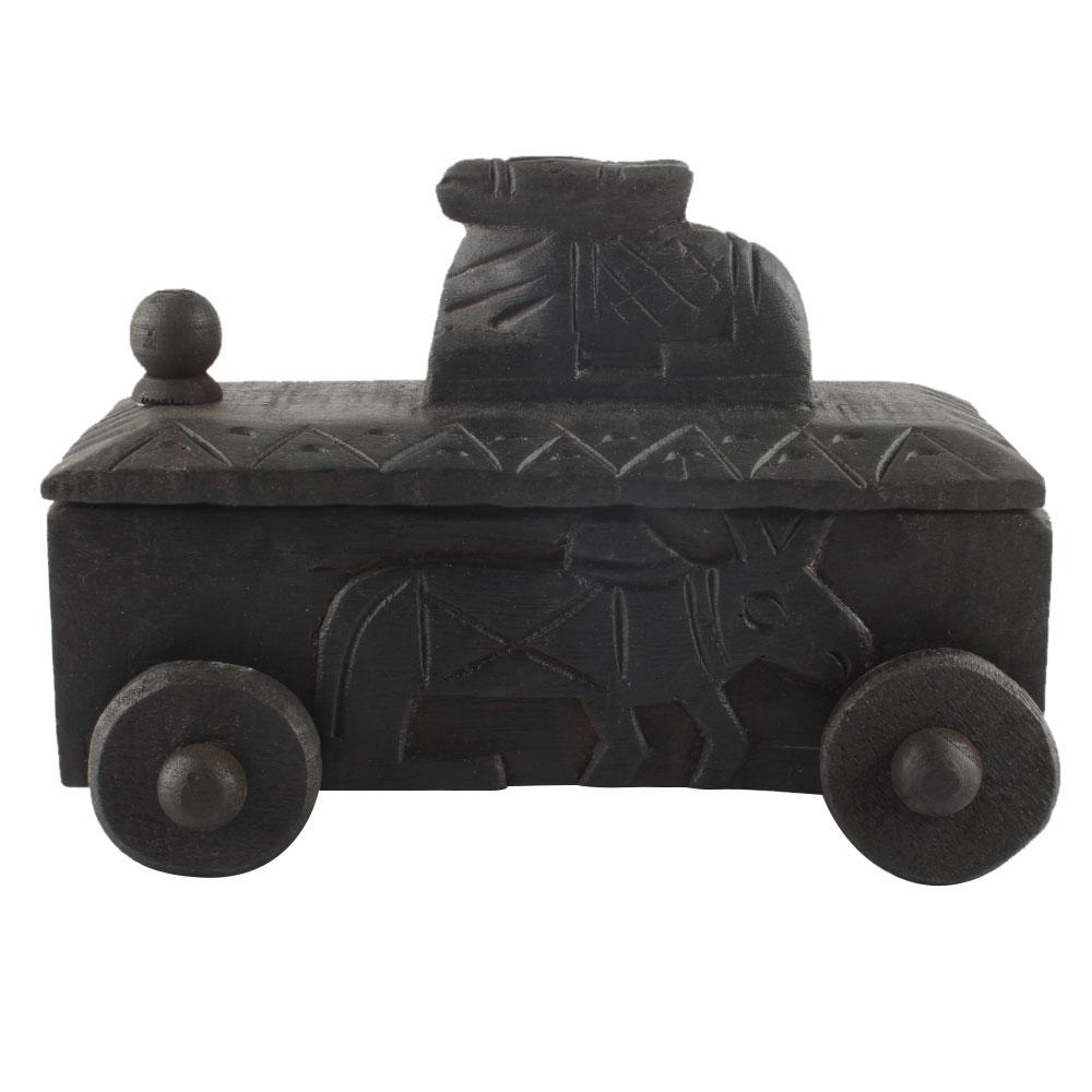 Decorative Nandi Wooden Box Masala Dabba Spice Box