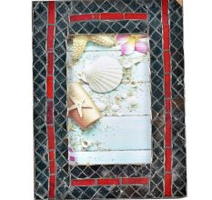 Handmade Mosaic Grey Tile Photo Frame