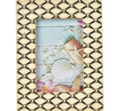 Black And Cream Mogul Design Photo Frame