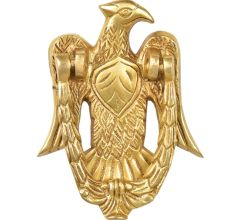 Vintage Golden Brass Eagle Door Knocker