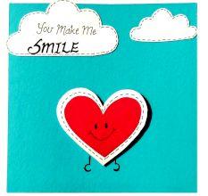 Handmade You Make me smile Amity love Greeting