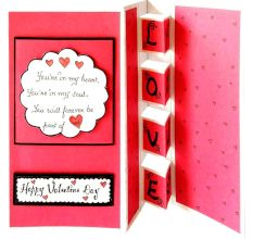RMantra Handmade For you My Love 3D Greeting Card / Valentine Day Card Greeting Card