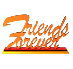 Hand crafted Wooden Friends Forever Stand
