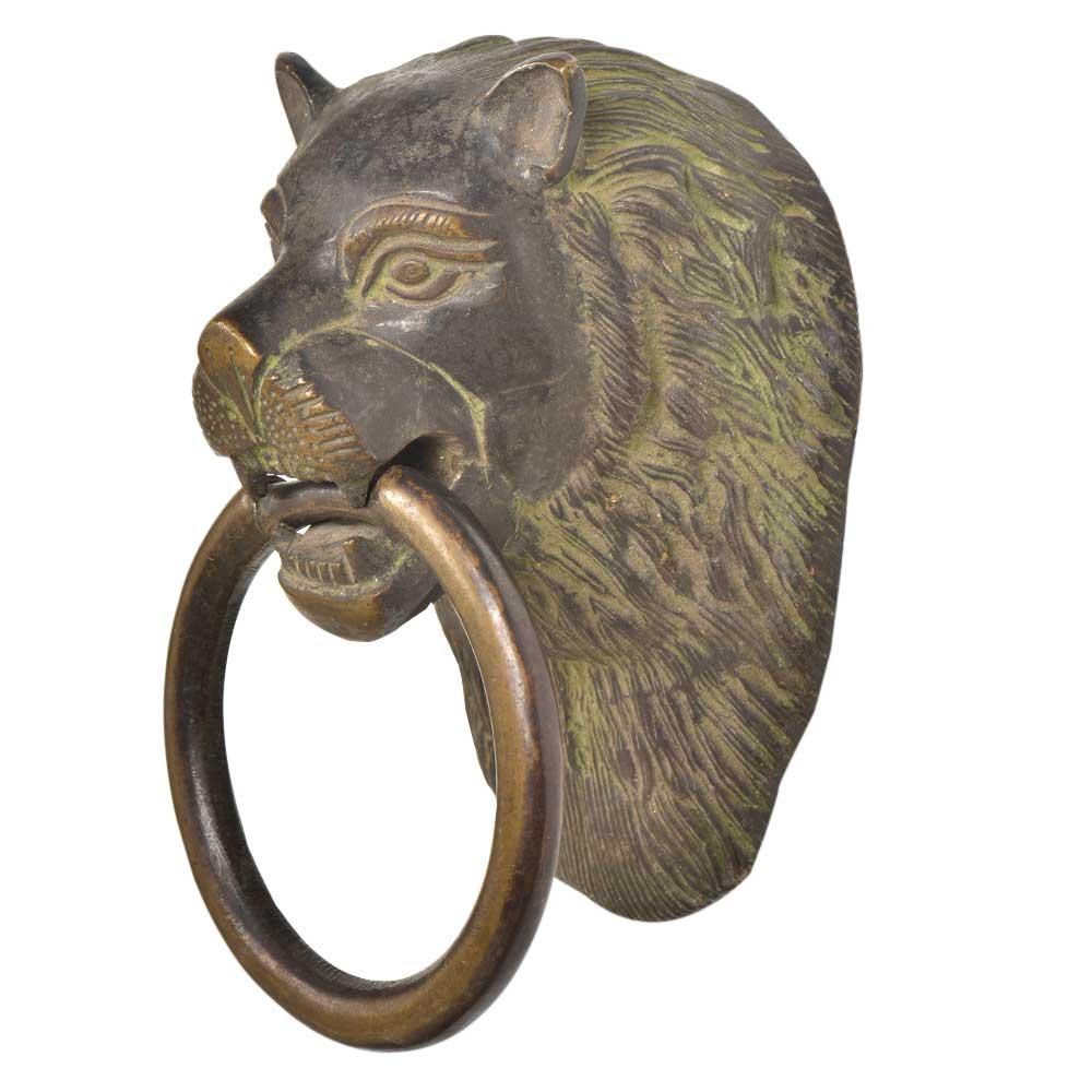 Brass Handcrafted Lion Head Door Knocker