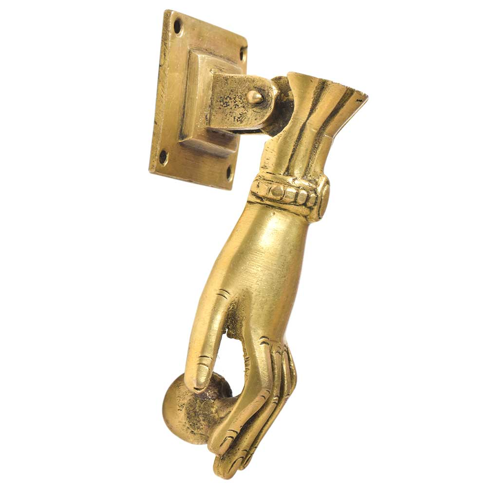 Handcrafted Brass Hand Door Knocker