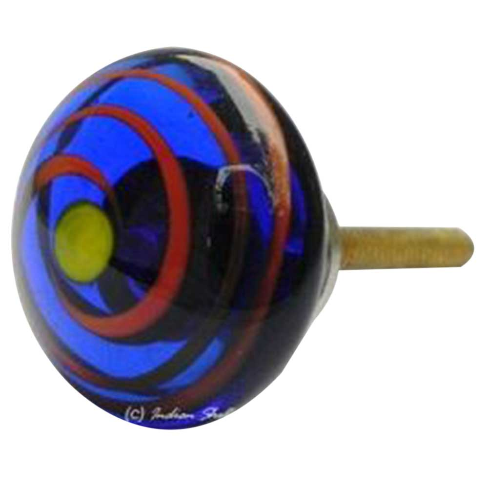 Blue with Red Striped Knob