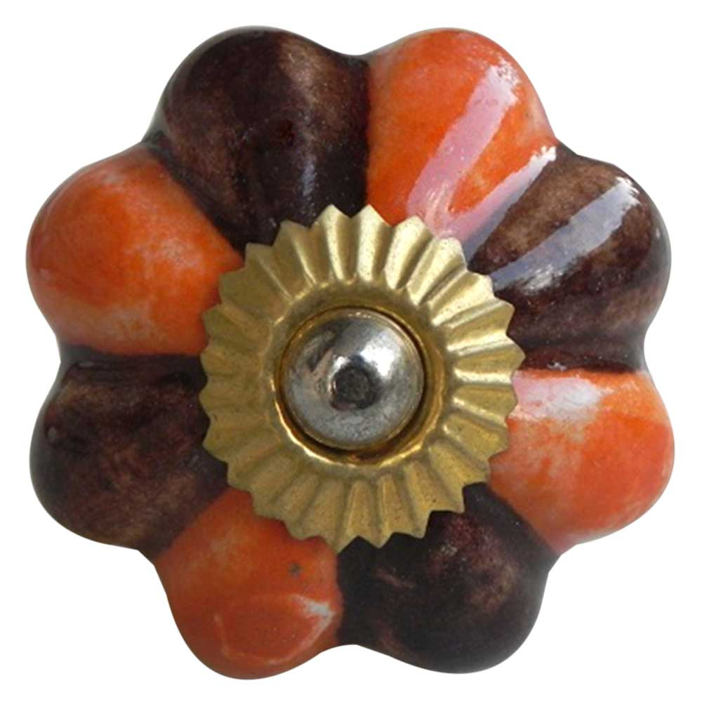 Orange Brown Knob
