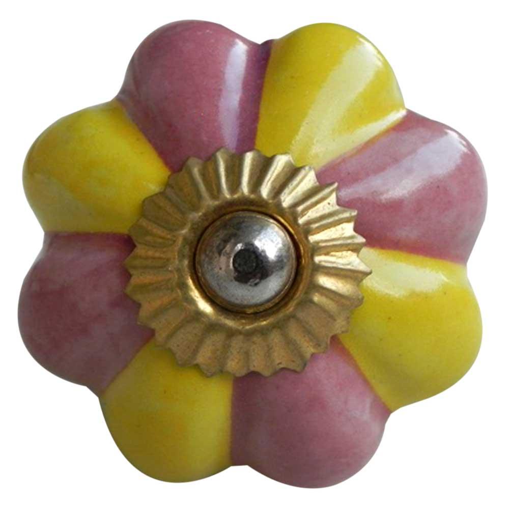 Yellow Pink Knob