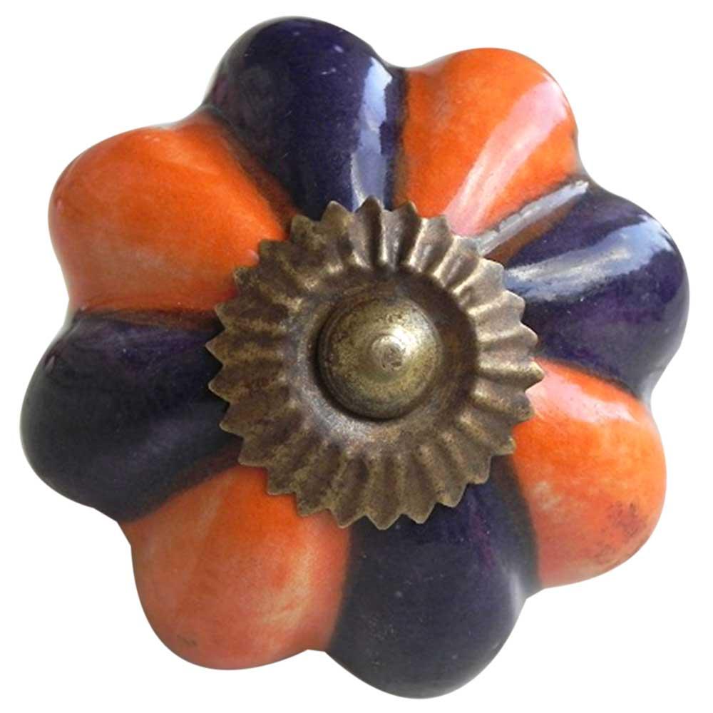 Orange Navy Blue Knob