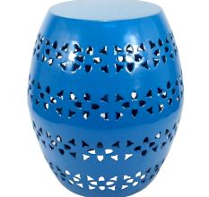 Floral Stool Blue