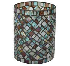 Glass Flower Vase In Multicolour