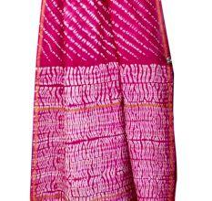 Deep Pink Chanderi Silk  With White Pattern Printed Border