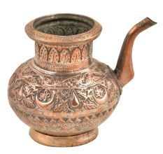 Engraved Copper Water Pot With A Spout