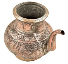 Brass Engraved Copper Holy Water Pot With A Stout