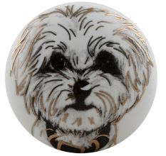 Havanese Dog Face Golden pattern Ceramic Dresser Knobs Online