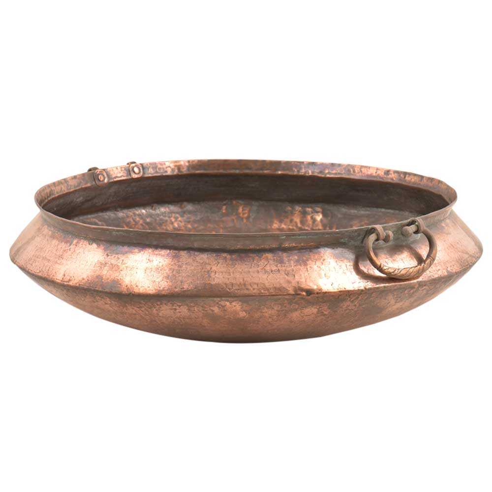 Hand Crafted Copper Kitchenware Cooking Urli Pot