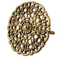 Golden Floral Brass Dresser Knobs Online