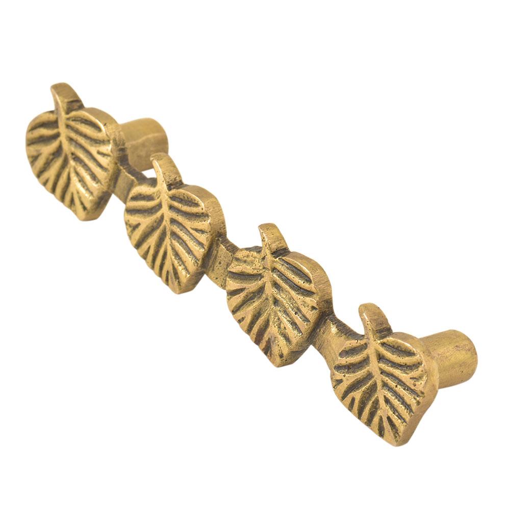 Brass Handcrafted Four Leaf Door Handle