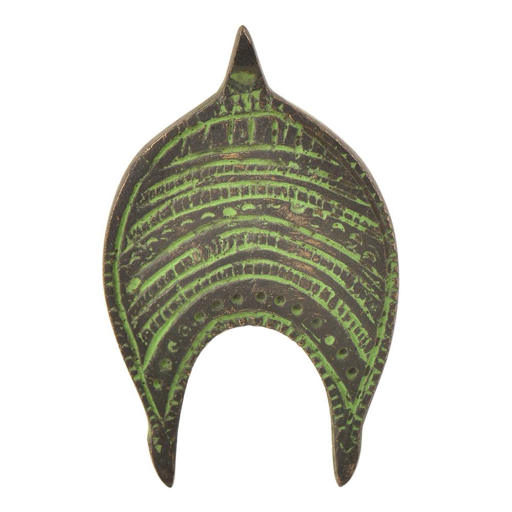 Traditional Handmade Brass Tribal knob Pull With Patina