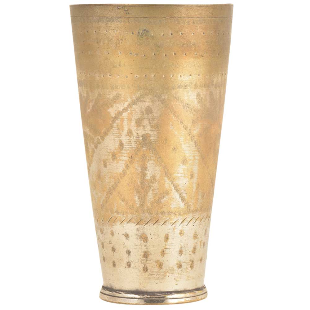 Old Punjabi Brass Lassi Glass Or Tumbler