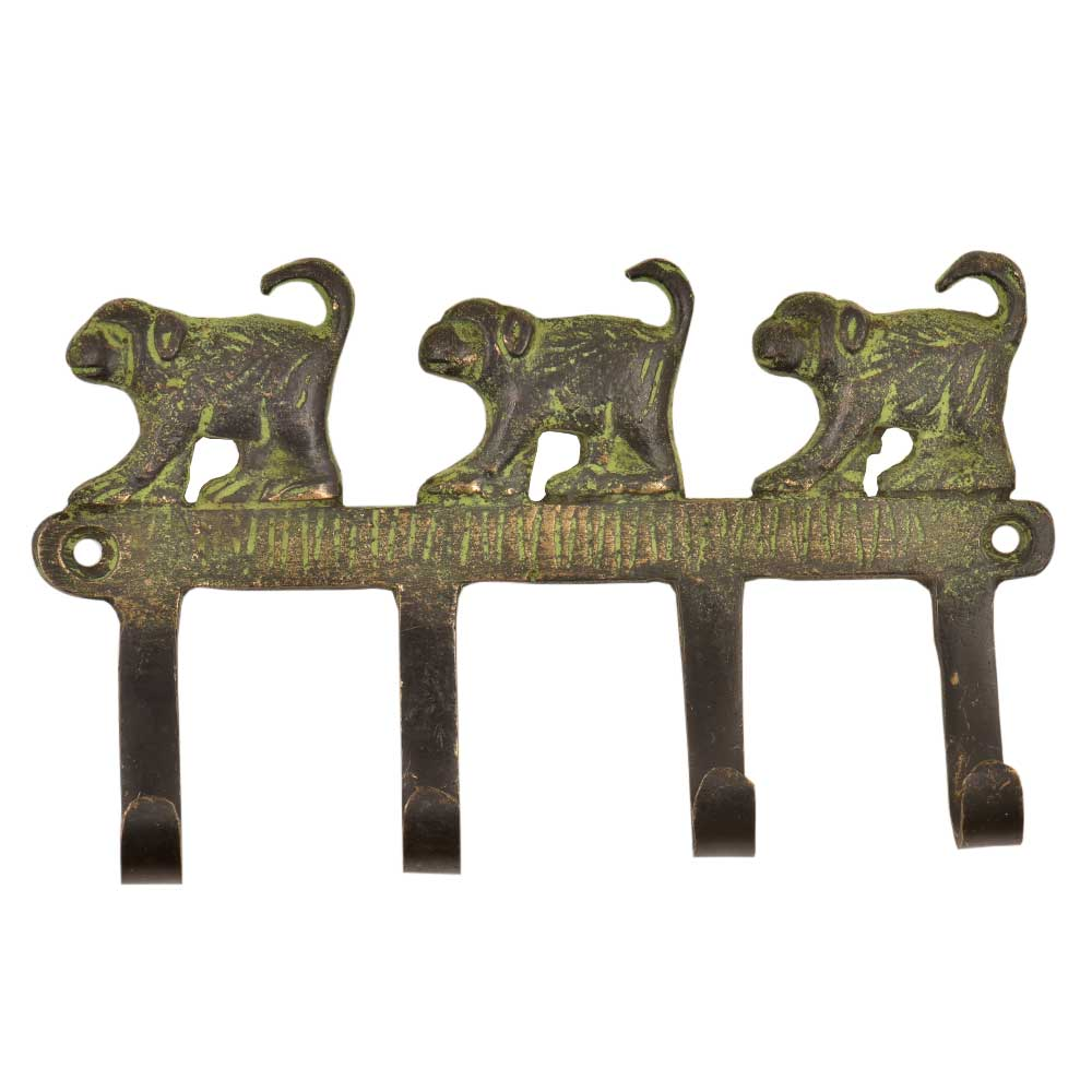 Vintage Retro Forest Monkey Solid Brass Animal Wall Hooks