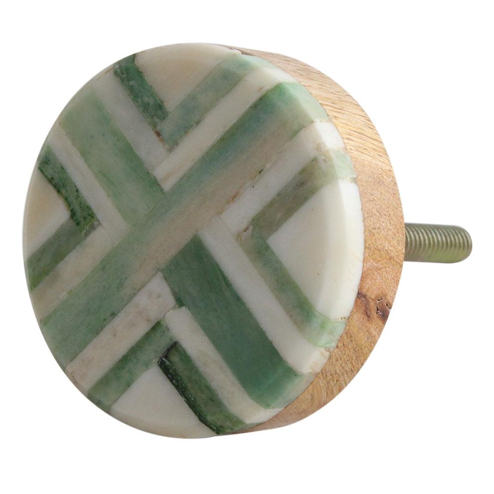 Green Round Bone Horn Cabinet Wooden Knob Online