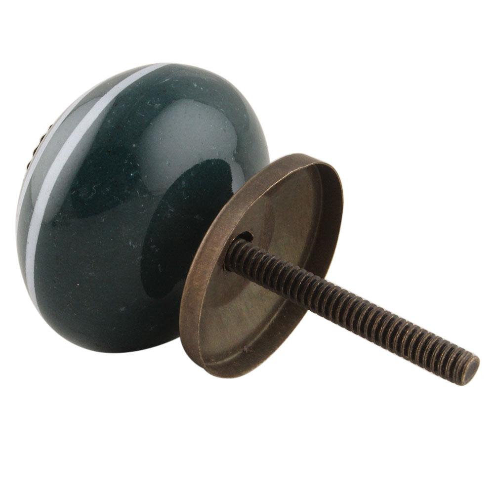 Dark Green Strip Knob
