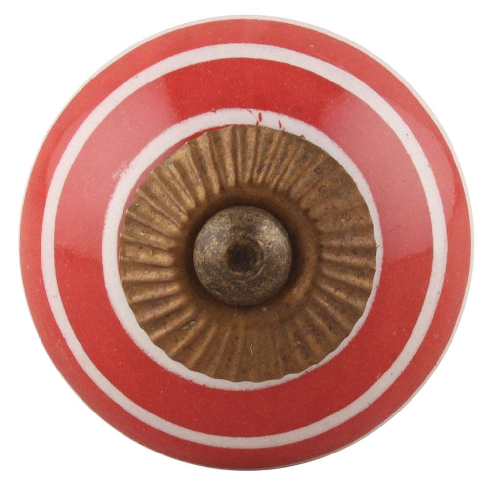 Red White Stripes Knob