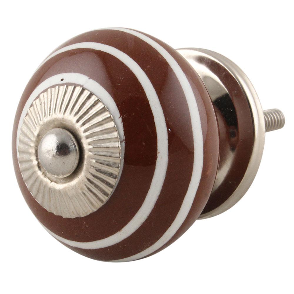 Brown Knob White Striped