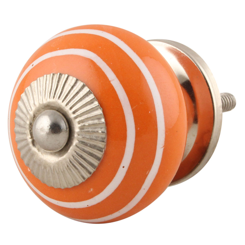 Orange White Knob