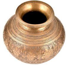 Hand Engraved Hindu Gods Pooja Holy Water Pot